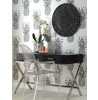 Tropics Arthouse Copacabana Pineapple Wallpaper - Black & White - 690900