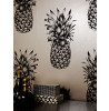Tropics Black & White Copacabana Pineapple Wallpaper - Arthouse 690900