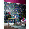Floral Tropics Arthouse Pindorama Wallpaper - Navy - 690101