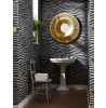 Tropics  Arthouse Serengeti Zebra Print Wallpaper - Black - 670300