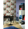 Arthouse Boys Life Bookshelf Wallpaper - Multi - 696000 Bedroom
