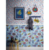 Superhero Wallpaper Blue Feature Wall Arthouse 696200