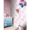 Arthouse Rainbow Unicorn Glitter Wallpaper Pink 696108