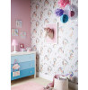 Rainbow Unicorn Glitter Wallpaper Bedroom White Arthouse 696109