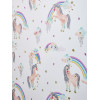 White Rainbow Unicorn Glitter Wallpaper Arthouse 696109
