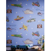 Zoom Away Vehicles Wallpaper Blue Bedroom Arthouse 696203