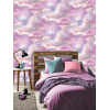 Diamond Galaxy Cloud Glitter Wallpaper Feature Wall - Purple and Pink - Arthouse 260009