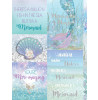 Mermazing Mermaid Glitter Wallpaper Feature Wall - Ice Blue- Arthouse 698304