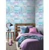 Mermaid Glitter Wallpaper - Ice Blue- Mermazing Arthouse 698304
