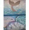 Arthouse Mermazing Mermaid Glitter Wallpaper - Ice Blue - 698304