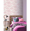 Arthouse Diamond Brick Wallpaper Pink 260005