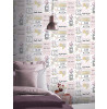 Arthouse Glam Life Collage Wallpaper Pink 699402