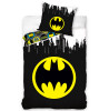 Batman Logo Gotham Single Duvet Cover and Pillowcase Set