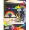 Rainbow Bedroom Wallpaper Navy Blue Belgravia 9990