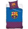 FC Barcelona Set copripiumino singolo a quadri