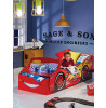 Disney Cars Lightning McQueen Feature Toddler Bed with Storage and Deluxe Foam Mattress