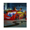 Disney Cars Lightning McQueen Toddler Bed with Storage and Mattress