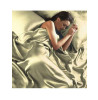 Cream Satin King Duvet Cover, Fitted Sheet and 4 Pillowcase Bedding Set
