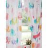 Patchwork cortinas forradas de elefante