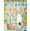 "Dinosaur World Lined Curtains 72"" Drop"