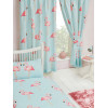 Fifi Flamingo Lined Curtains Polka Dot