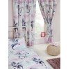 Purple and Teal Stardust Unicorn Lined Curtains