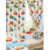 "Trucks and Transport Lined Curtains 54"" Drop"