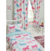 """Patchwork Ponies Lined Curtains 66"""" x 54"""""""