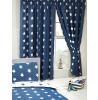 Camera da letto delle tende delle stelle blu marino e bianco 168cm x 183cm