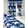 Navy Blue Stardust Unicorn Lined Curtains