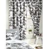 Camuflaje gris del ejército forrado cortinas 66 en x 54 en