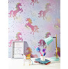 Coloroll Be Dazzled Dancing Unicorn Wallpaper Rainbow M1423