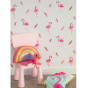 Coloroll Be Dazzled Flamazing Flamingo Wallpaper Pink / White M1424