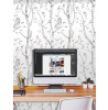 Wallpops Woods Peel And Stick Wallpaper - Grey NU1412