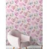 Floral Hearts Wallpaper - FD41913 Lilac Fine Decor
