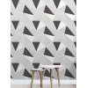 Fine Decor Apex Geometric Wallpaper Black and Silver FD41994