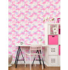 Flamingo and Palm Leaves Wallpaper Feature Wall Pink and Lilac Fine Decor FD42214
