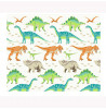 Dinosaur World Lined Curtains 168 cm x 137 cm