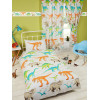 Dinosaur World Lined Curtains Bedroom