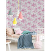 Disney Princess Wallpaper Pink and White Toile De Jouy