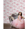 Disney Princess Toile De Jouy Wallpaper - Pink and White 70-233