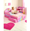 Disney Princess Bedroom Toddler Bed with Storage plus Deluxe Foam Mattress