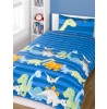 Dinosaurs Blue Junior Toddler Duvet Cover & Pillowcase Set