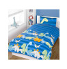 Dinosaurs Blue Junior Toddler Duvet Cover Bedding Set