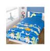 Dinosaurs Blue 4 in 1 Junior Toddler Bedding Bundle Set