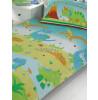 Roar Like a Dinosaur 4 in 1 Junior Bedding Bundle - Duvet, Pillow and Covers