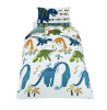Catherine Lansfield Dinosaur Single Duvet Cover Bedding Set