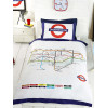 London Underground Tube Map Single Duvet Cover and Pillowcase Set