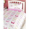 Fly Up High Butterfly 4 in 1 Junior Bedding Bundle - Duvet, Pillow, Duvet Cover and Pillowcase