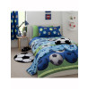 Lined Football Curtains Blue Catherine Lansfield